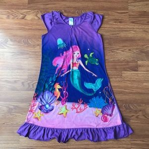 Girl's size 10/12 mermaid short sleeve nightgown